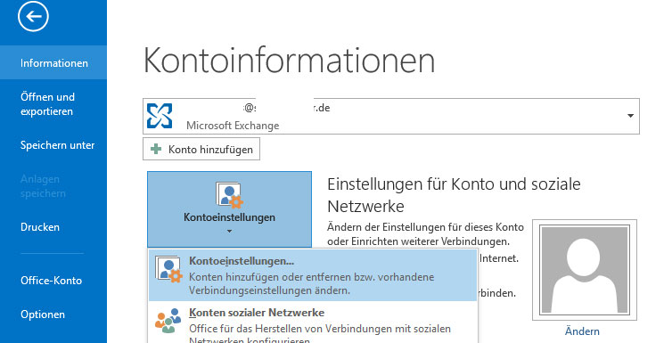 Outlook 2013 - Screenshot